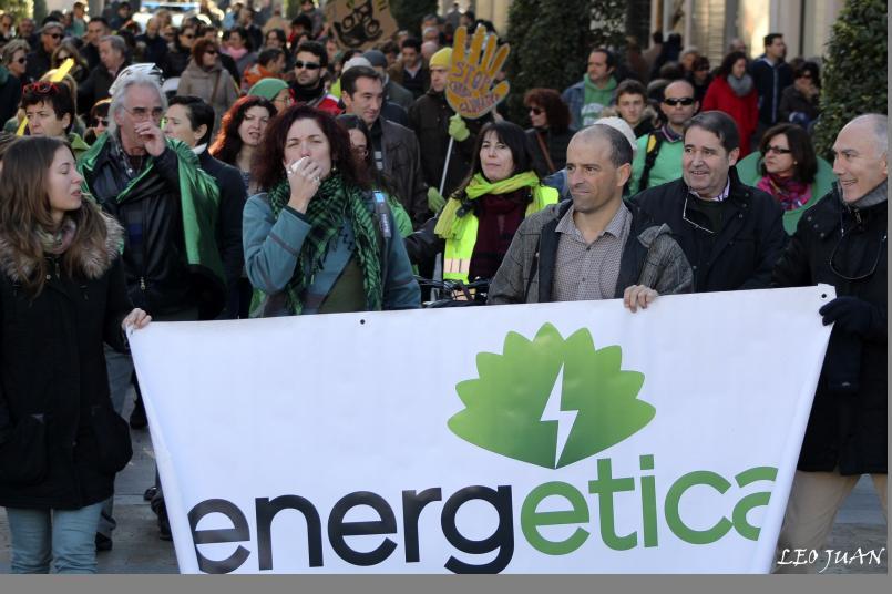 """EnergÉtica en la """"Marcha Mundial por el Clima"""" en Valladolid."""