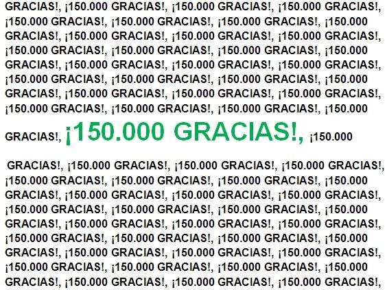 ¡150.000 gracias!