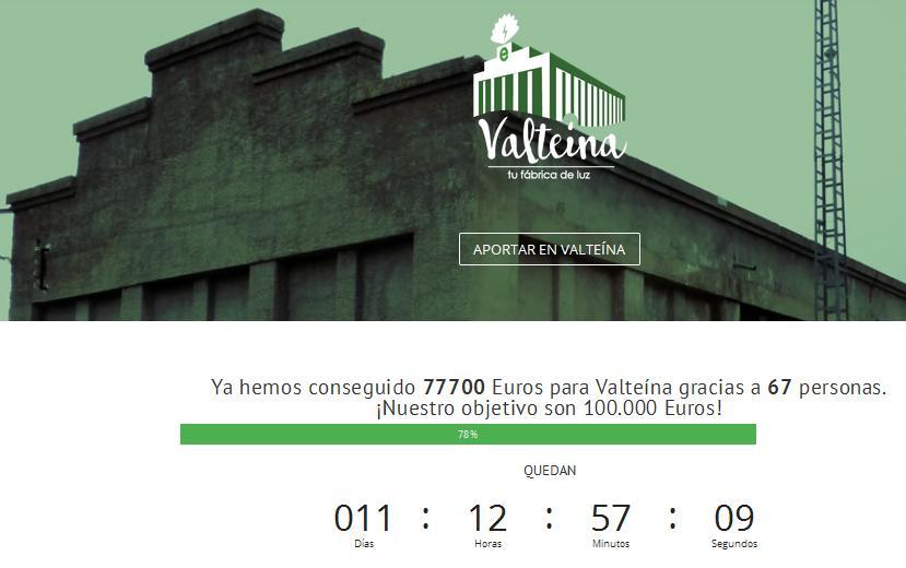 Primer objetivo alcanzado: EnergÉtica comprará una parte de la central de Valteína al superar los 75.000 euros de aportaciones en apenas 4 días