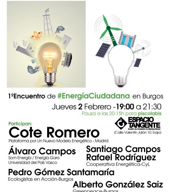 """""""El poder de la energía ciudadana"""". Burgos, jueves 2."""