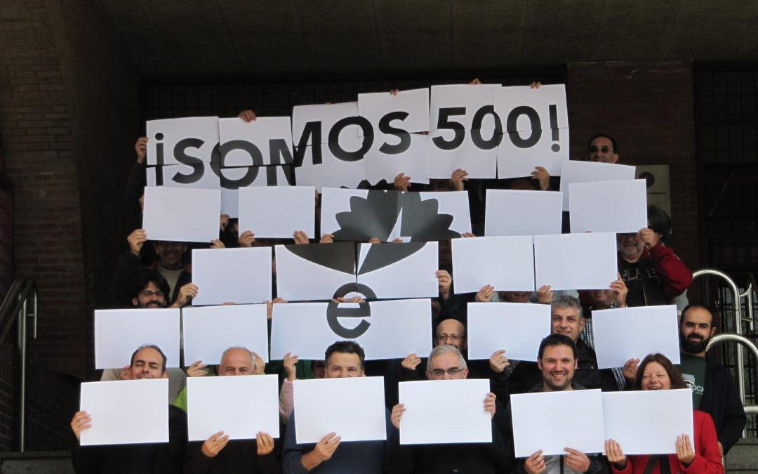 ¡Ya somos 500!!